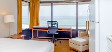 Bikini Beach Resort Panama City Beach FL | Three Double Suite, Kitchenette with Gulf View | Featured Image