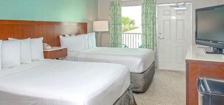 Bikini Beach Resort Panama City Beach | Deluxe Double Room with Balcony or Patio, Beach View